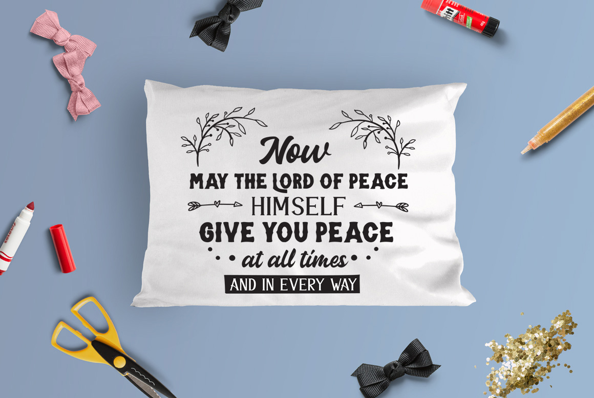 Download Free May The Lord Bring You Peace Cut File Graphic By Nerd Mama Cut for Cricut Explore, Silhouette and other cutting machines.
