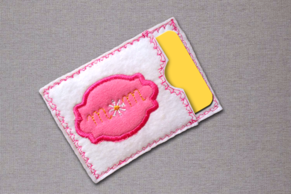 Mom ITH Gift Card Holder Applique Embroidery Item