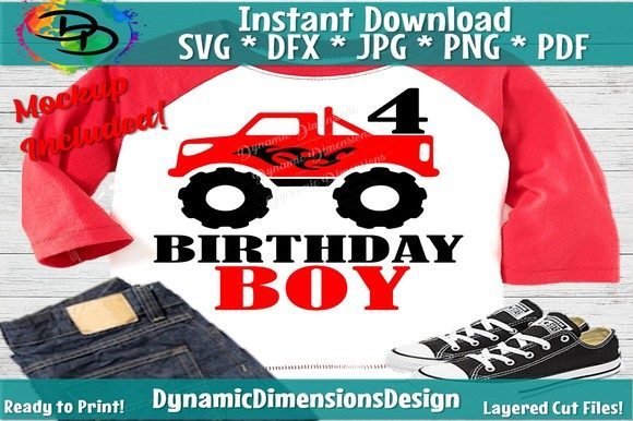 Download Free Monster Truck Birthday Graphic By Dynamicdimensions Creative for Cricut Explore, Silhouette and other cutting machines.