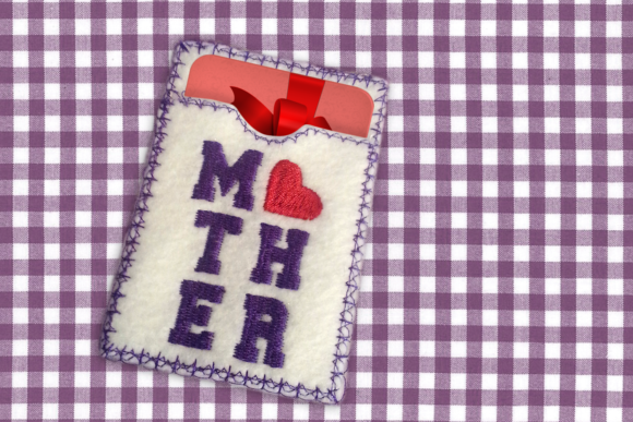 Mother's Day ITH Gift Card Holder Mother's Day Embroidery Design By DesignedByGeeks