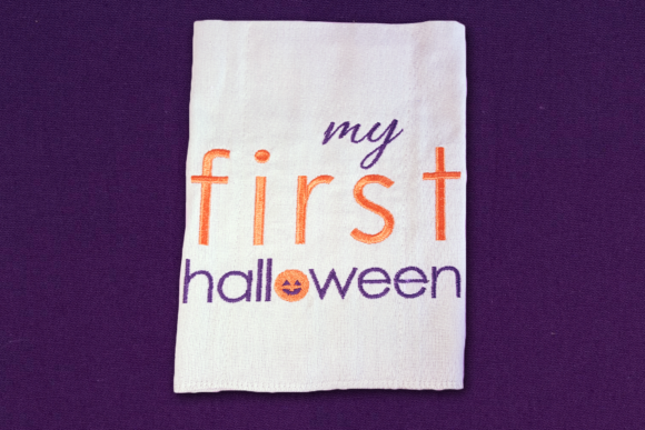 My First Halloween Halloween Embroidery Design By DesignedByGeeks - Image 1