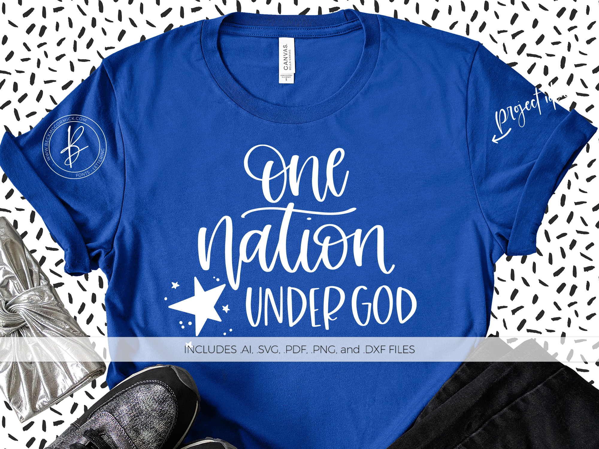 Download Free One Nation Under God Graphic By Beckmccormick Creative Fabrica for Cricut Explore, Silhouette and other cutting machines.