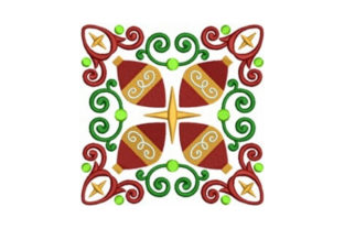 Ornament Quilt Block Christmas Embroidery Design By designsbymira