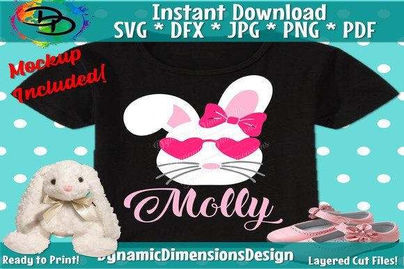 Print on Demand: Personalized Easter Bunny Graphic Crafts By dynamicdimensions