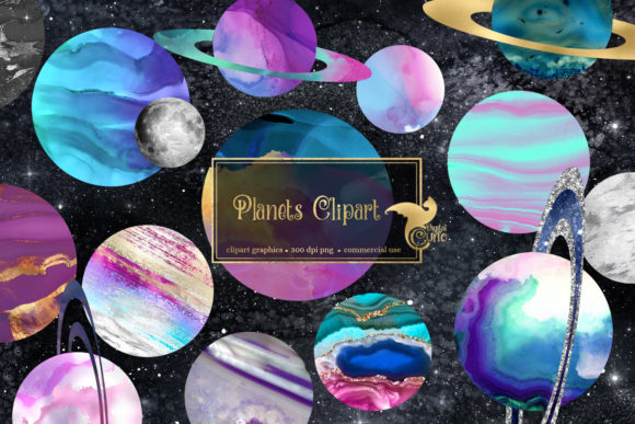 Planets Clipart Graphic Illustrations By Digital Curio - Image 1