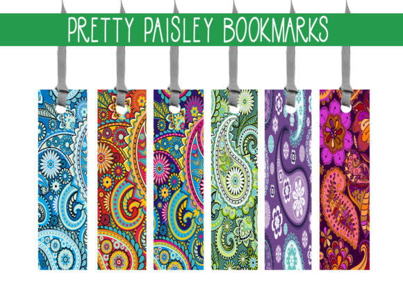 Print on Demand: Pretty Paisley Bookmarks Graphic Print Templates By capeairforce
