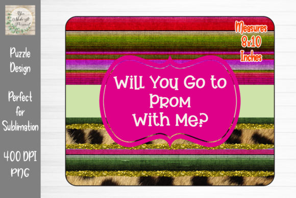 Print on Demand: Prom Proposal, Great for Puzzles Graphic Print Templates By You Make It Personal