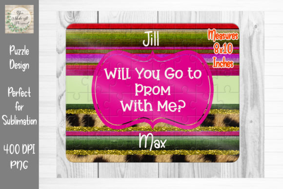 Download Free Prom Proposal Great For Puzzles Graphic By You Make It Personal for Cricut Explore, Silhouette and other cutting machines.