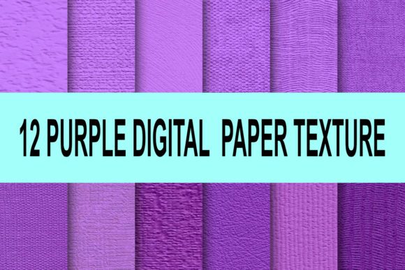 Print on Demand: Purple Lavender Violet Paper Texture Graphic Textures By rodesigns