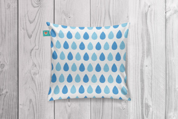 Rainy Day Blues Seamless Patterns Graphic Downloadable Digital File