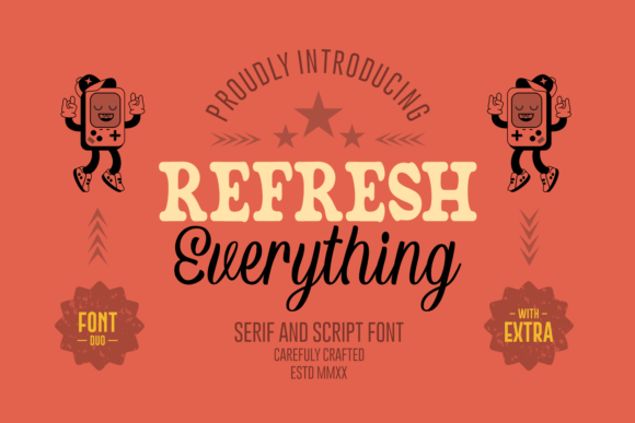 Print on Demand: Refresh Everything Script & Handwritten Font By Dreamink (7ntypes)