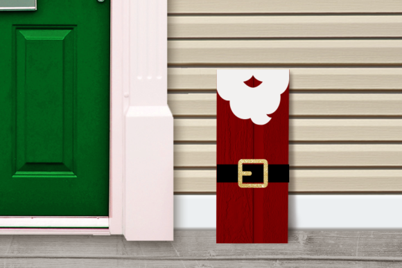 Santa Claus Porch Sign Christmas Graphic Crafts By RisaRocksIt