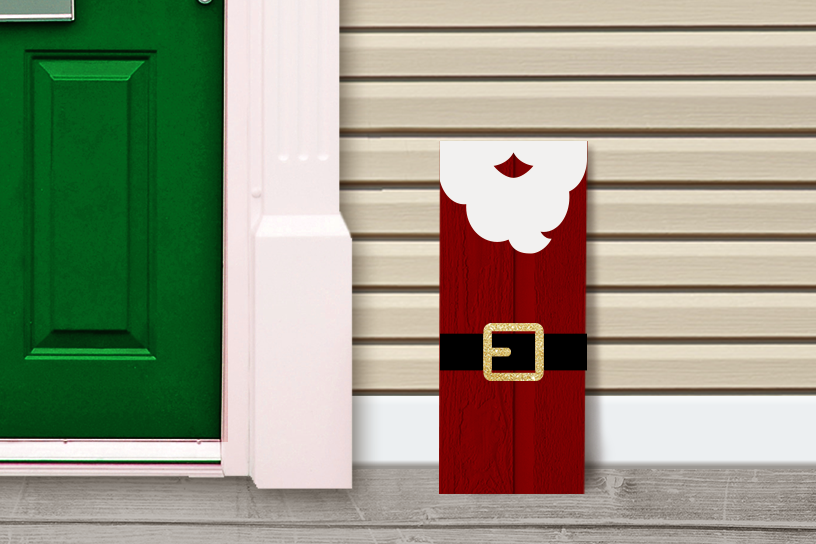 Download Free Santa Claus Porch Sign Christmas Graphic By Risarocksit for Cricut Explore, Silhouette and other cutting machines.