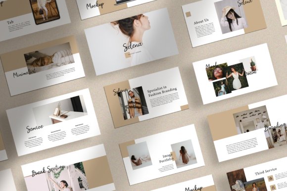 Print on Demand: Selena - Fashion Branding PPT Graphic Presentation Templates By ovoz.graphics