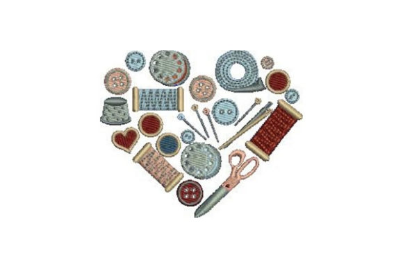 Sewing Supplies Heart Sewing & Crafts Embroidery Design By Embroidery Designs