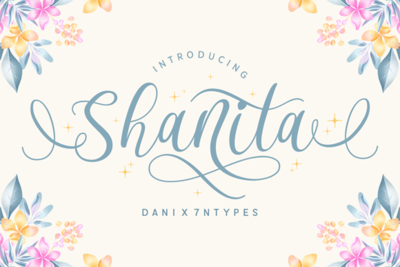 Print on Demand: Shanita Script & Handwritten Font By Dani (7NTypes) - Image 1