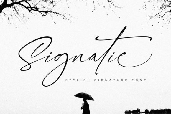 Print on Demand: Signatie Script & Handwritten Font By BrandSemut