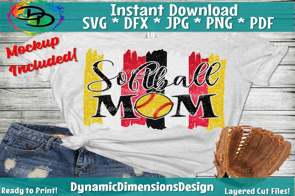 Download Free Softball Mom Graphic By Dynamicdimensions Creative Fabrica for Cricut Explore, Silhouette and other cutting machines.