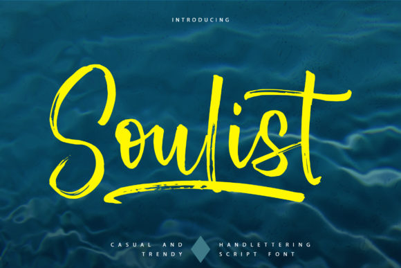 Print on Demand: Soulist Script & Handwritten Font By Vunira