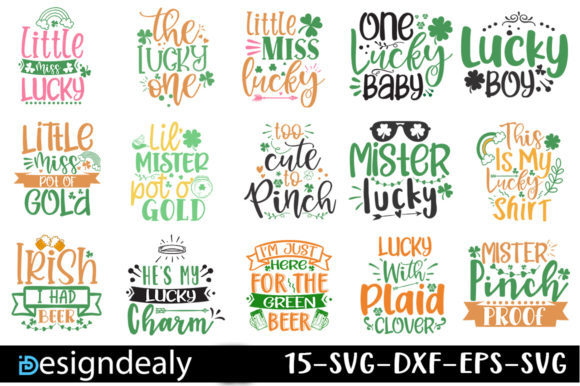 Print on Demand: St Patrick's Day Bundle Graphic Print Templates By Designdealy.com