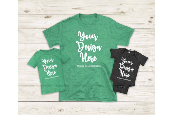 Print on Demand: St Patrick'sMommy and Me Mockup Graphic Product Mockups By Mockup Station