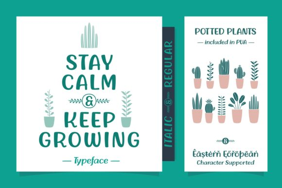 Print on Demand: Stay Calm & Keep Growing Script & Handwritten Font By Situjuh