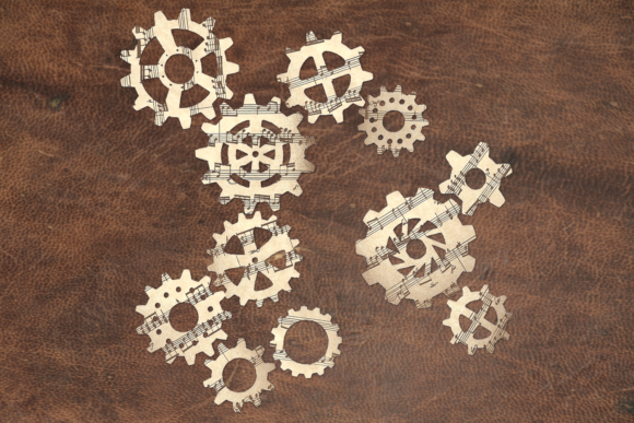 Steampunk Gears Set Graphic Crafts By RisaRocksIt