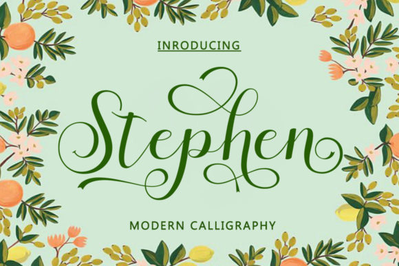 Print on Demand: Stephen Script & Handwritten Font By bungletter