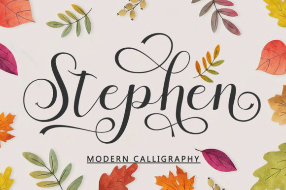 Print on Demand: Stephen Script & Handwritten Font By bungletter - Image 10