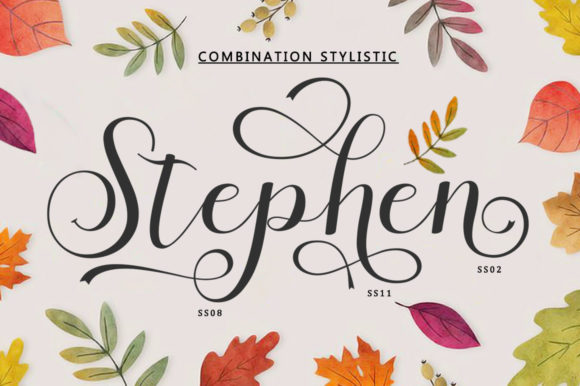 Print on Demand: Stephen Script & Handwritten Font By bungletter - Image 4