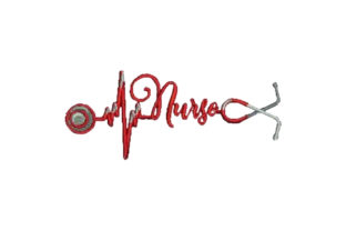 Stethoscope That Creates a Heartbeat Work & Occupation Embroidery Design By Embroidery Designs
