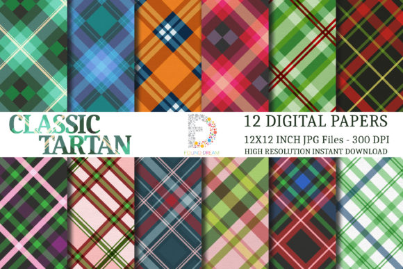 Print on Demand: Tartan Digital Papers Graphic Patterns By FounDream