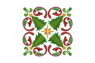 Tree Quilt Block Christmas Embroidery Design By designsbymira
