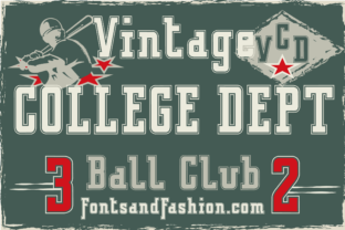 Print on Demand: Vintage College Dept_Outline Slab Serif Font By Fontsandfashion