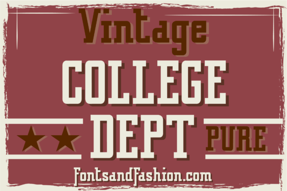Print on Demand: Vintage College Dept Pure Slab Serif Font By Fontsandfashion - Image 3