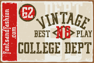 Print on Demand: Vintage College Dept_Worn Slab Serif Font By Fontsandfashion