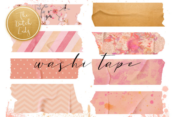 Print on Demand: Washi Tape Clipart Set Graphic Illustrations By daphnepopuliers - Image 1