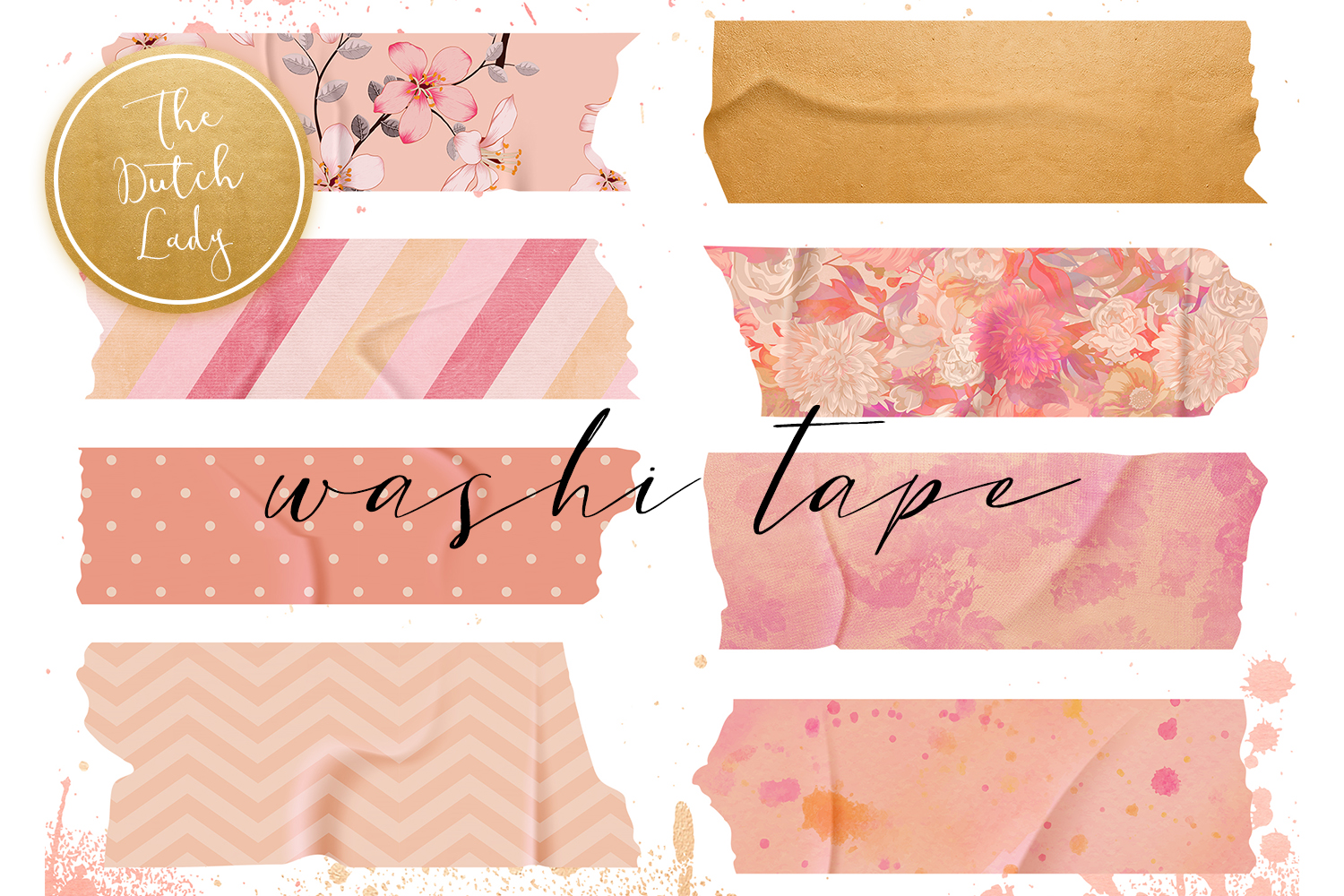 Download Free Washi Tape Clipart Set Graphic By Daphnepopuliers Creative Fabrica for Cricut Explore, Silhouette and other cutting machines.