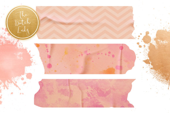 Print on Demand: Washi Tape Clipart Set Graphic Illustrations By daphnepopuliers - Image 5