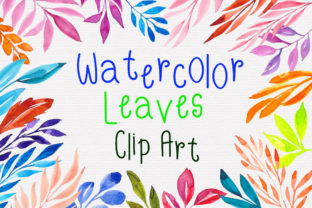 Watercolor Leaves Clipart Graphic Illustrations By PinkPearly