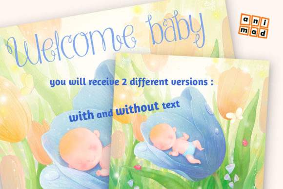Download Free Welcome Baby Boy Graphic By Animaddesign Creative Fabrica for Cricut Explore, Silhouette and other cutting machines.