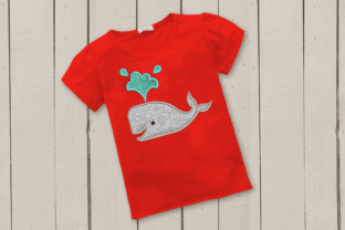 Whale Applique Marine Mammals Embroidery Design By DesignedByGeeks