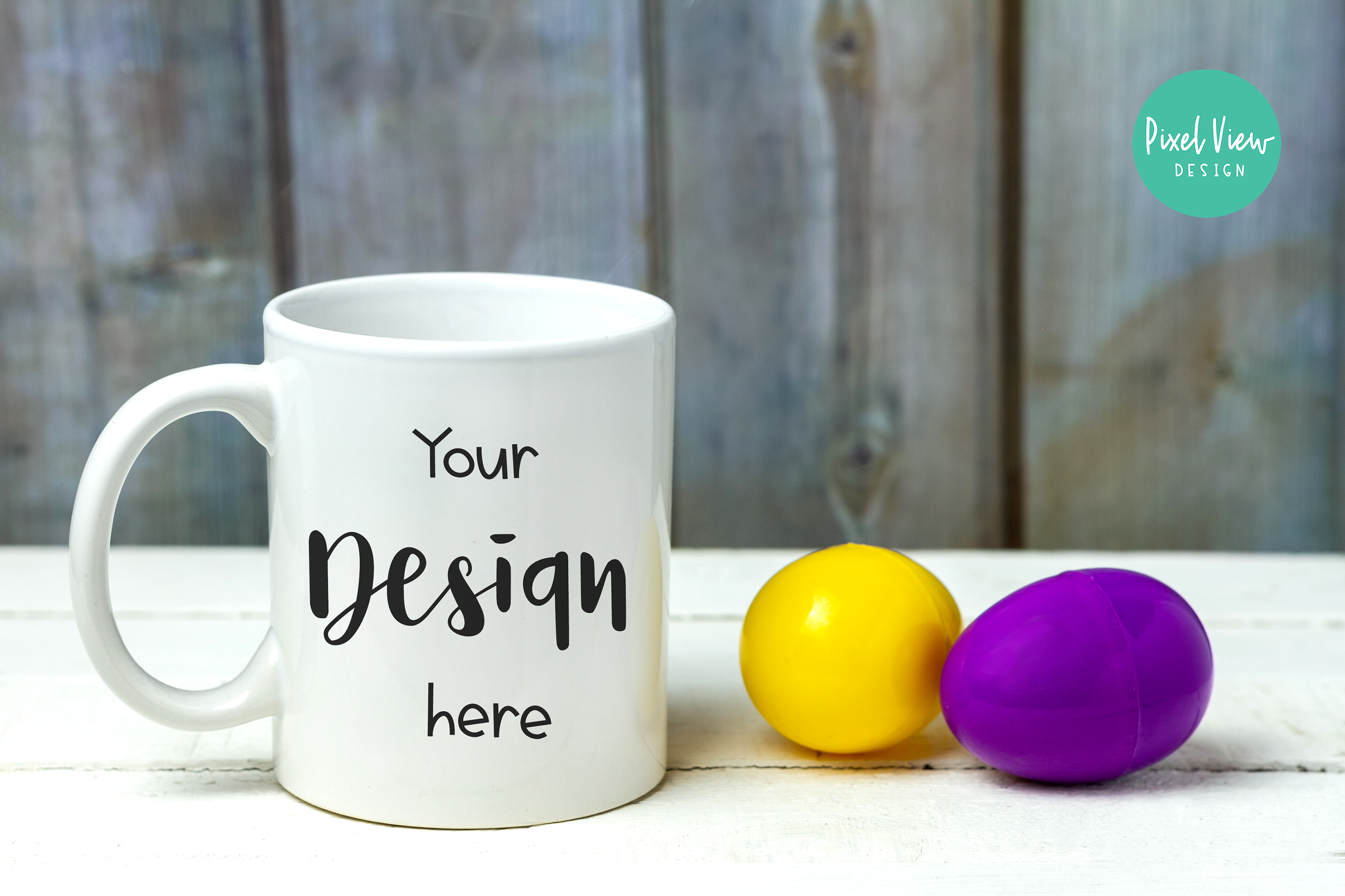 Download Free White Coffee Mug Mock Up I Easter Graphic By Pixel View Design for Cricut Explore, Silhouette and other cutting machines.