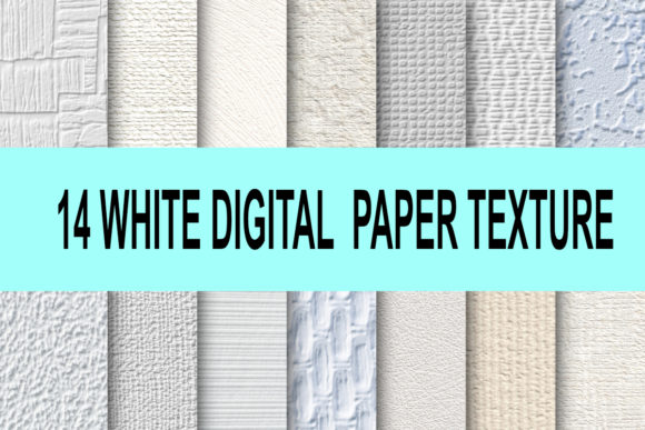 Print on Demand: White Digital Paper Texture Graphic Textures By rodesigns