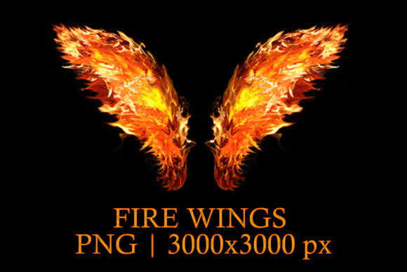 Wings of Fire, Transparent Graphic Layer Styles By impresstore
