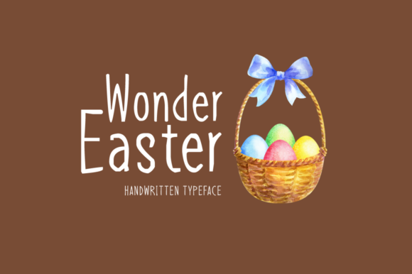 Print on Demand: Wonder Easter Display Font By Instagram Fonts