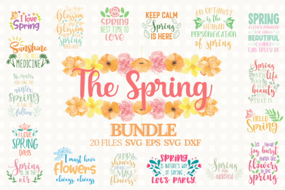 Download Free The Spring Bundle Graphic By Graphipedia Creative Fabrica for Cricut Explore, Silhouette and other cutting machines.