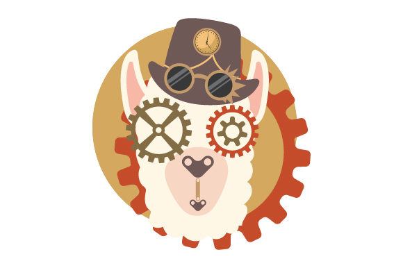Steampunk Llama Steampunk Plotterdatei von Creative Fabrica Crafts