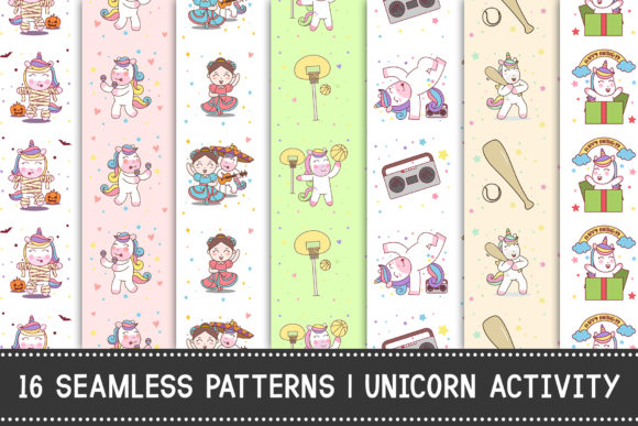 Print on Demand: 16 Seamless Pattern Graphic Patterns By Tosca Digital