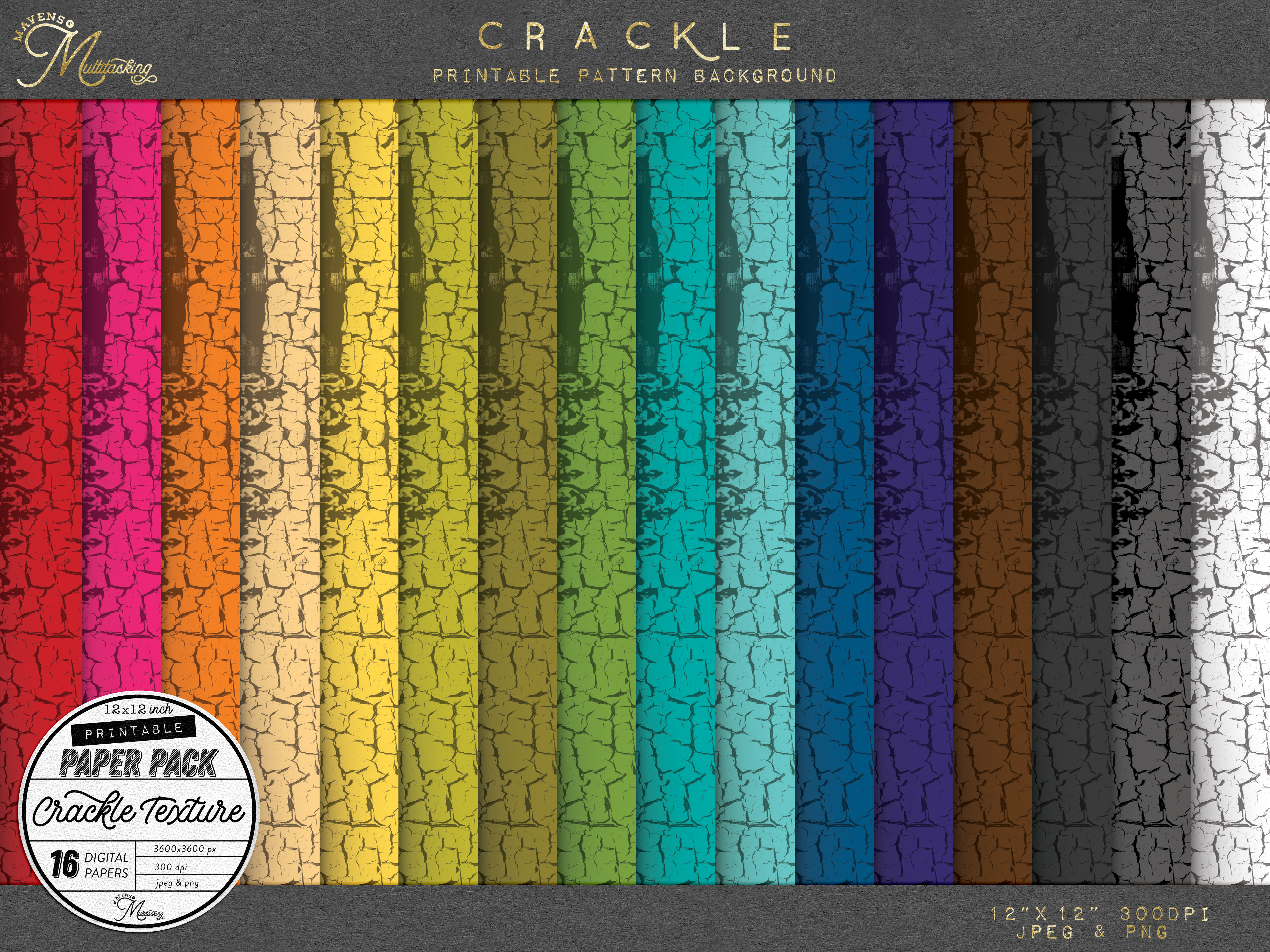 Download Free 18 Crackle Paint Texture Backgrounds Graphic By for Cricut Explore, Silhouette and other cutting machines.
